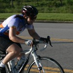 Kathleen Tenney finishes the Sunday Time Trial in Orlando