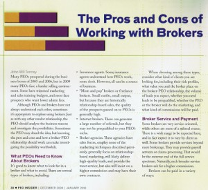 Page 1 of the PEO Insider article