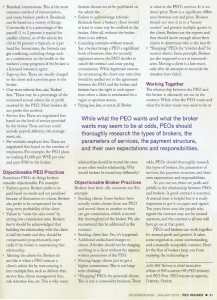 Page 2 of the PEO Insider article