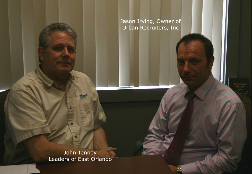 Jason Irving of Urban Recruiters Staffing and John Will Tenney of PEO Pros